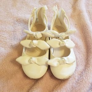 Baby gap white flats size 7.